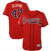 Wholesale Cheap Braves #47 Tom Glavine Red Flexbase Authentic Collection Stitched MLB Jersey