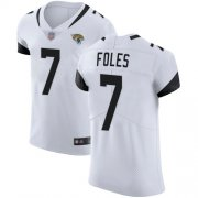 Wholesale Cheap Nike Jaguars #7 Nick Foles White Men's Stitched NFL Vapor Untouchable Elite Jersey