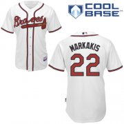 Wholesale Cheap Braves #22 Nick Markakis White Cool Base Stitched Youth MLB Jersey