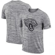 Wholesale Cheap Men's Jacksonville Jaguars Nike Heathered Black Sideline Legend Velocity Travel Performance T-Shirt