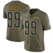 Wholesale Cheap Nike Chargers #99 Jerry Tillery Olive Men's Stitched NFL Limited 2017 Salute to Service Jersey