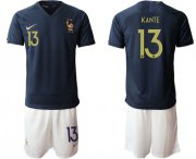 Wholesale Cheap France #13 Kante Home Soccer Country Jersey