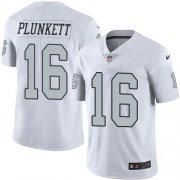 Wholesale Cheap Nike Raiders #16 Jim Plunkett White Youth Stitched NFL Limited Rush Jersey