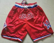 Wholesale Cheap 1991 All-Star West Shorts (Red) JUST DON By Mitchell & Ness