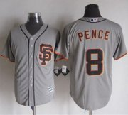 Wholesale Cheap Giants #8 Hunter Pence Grey Road 2 New Cool Base Stitched MLB Jersey