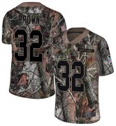 Wholesale Cheap Nike Browns #32 Jim Brown Camo Men's Stitched NFL Limited Rush Realtree Jersey