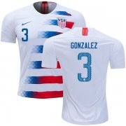 Wholesale Cheap USA #3 Gonzalez Home Kid Soccer Country Jersey