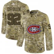 Wholesale Cheap Adidas Canadiens #92 Jonathan Drouin Camo Authentic Stitched NHL Jersey