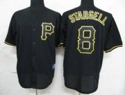 Wholesale Cheap Pirates #8 Willie Stargell Black Fashion Stitched MLB Jersey