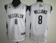 Wholesale Cheap Brooklyn Nets #8 Deron Williams White Swingman Jersey