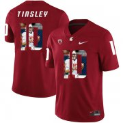 Wholesale Cheap Washington State Cougars 10 Trey Tinsley Red Fashion College Football Jersey