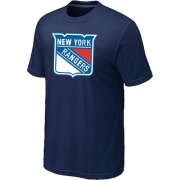 Wholesale Cheap New York Rangers Big & Tall Logo Midnight Blue NHL T-Shirt