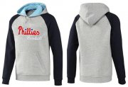 Wholesale Cheap Philadelphia Phillies Pullover Hoodie Grey & Blue