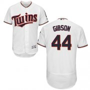 Wholesale Cheap Twins #44 Kyle Gibson White Flexbase Authentic Collection Stitched MLB Jersey