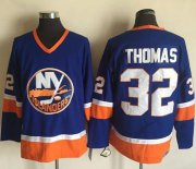 Wholesale Cheap Islanders #32 Thomas Baby Blue CCM Throwback Stitched NHL Jersey