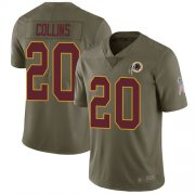 Wholesale Cheap Nike Redskins #20 Landon Collins Olive Youth Stitched NFL Limited 2017 Salute to Service Jersey