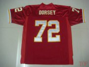 Wholesale Cheap Chiefs #72 Glenn Dorsey Red Stitched NFL Jersey