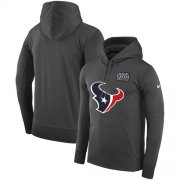 Wholesale Cheap NFL Men's Houston Texans Nike Anthracite Crucial Catch Performance Pullover Hoodie