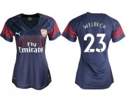 Wholesale Cheap Women's Arsenal #23 Welbeck Away Soccer Club Jersey