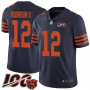 Wholesale Cheap Nike Bears #12 Allen Robinson II Navy Blue Alternate Men's Stitched NFL 100th Season Vapor Limited Jersey