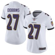 Wholesale Cheap Nike Ravens #27 J.K. Dobbins White Women's Stitched NFL Vapor Untouchable Limited Jersey