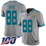 Wholesale Cheap Nike Jaguars #88 Tyler Eifert Silver Men's Stitched NFL Limited Inverted Legend 100th Season Jersey