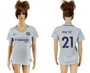 Wholesale Cheap Women's Chelsea #21 Matic Away Soccer Club Jersey