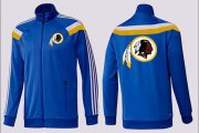 Wholesale Cheap NFL Washington Redskins Team Logo Jacket Blue_2
