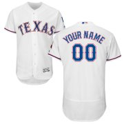 Wholesale Cheap Texas Rangers Majestic Home Flex Base Authentic Collection Custom Jersey White