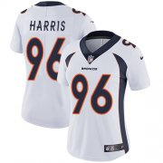 Wholesale Cheap Nike Broncos #96 Shelby Harris White Women's Stitched NFL Vapor Untouchable Limited Jersey