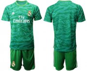 Wholesale Cheap Real Madrid Blank Green Goalkeeper Soccer Club Jersey