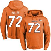 Wholesale Cheap Nike Broncos #72 Garett Bolles Orange Name & Number Pullover NFL Hoodie