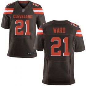 Wholesale Cheap Nike Browns #21 Denzel Ward Brown Team Color Men\'s Stitched NFL Elite Jersey