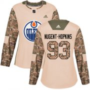 Wholesale Cheap Adidas Oilers #93 Ryan Nugent-Hopkins Camo Authentic 2017 Veterans Day Women's Stitched NHL Jersey