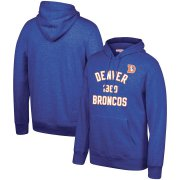 Wholesale Cheap Denver Broncos Mitchell & Ness Team History Pullover Hoodie Blue