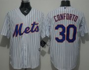 Wholesale Cheap Mets #30 Michael Conforto White(Blue Strip) New Cool Base Stitched MLB Jersey
