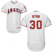Wholesale Cheap Angels of Anaheim #30 Nolan Ryan White Flexbase Authentic Collection Stitched MLB Jersey