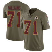 Wholesale Cheap Nike Redskins #71 Trent Williams Olive Youth Stitched NFL Limited 2017 Salute to Service Jersey