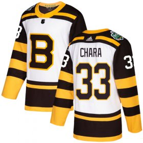 Wholesale Cheap Adidas Bruins #33 Zdeno Chara White Authentic 2019 Winter Classic Youth Stitched NHL Jersey