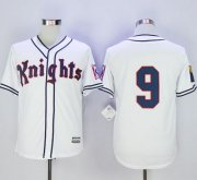Wholesale Cheap New York Knights The Natural #9 Roy Hobbs White Movie Stitched MLB Jersey