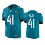 Wholesale Cheap Nike Jaguars #41 Josh Allen Teal 25th Anniversary Vapor Limited Stitched NFL 100th Season Jersey