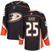 Wholesale Cheap Adidas Ducks #25 Ondrej Kase Black Home Authentic Stitched NHL Jersey