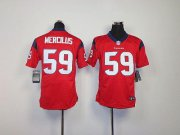 Wholesale Cheap Nike Texans #59 Whitney Mercilus Red Alternate Youth Stitched NFL Elite Jersey