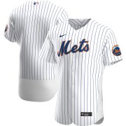 Wholesale Cheap New York Mets Men's Nike White Home 2020 Authentic Official Team MLB Jersey