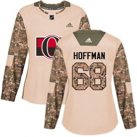 Wholesale Cheap Adidas Senators #68 Mike Hoffman Camo Authentic 2017 Veterans Day Women\'s Stitched NHL Jersey