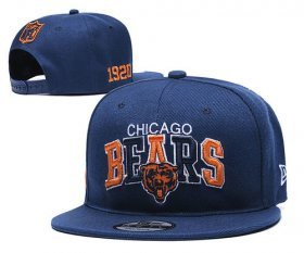 Wholesale Cheap Bears Team Logo Navy 1920 Anniversary Adjustable Hat YD