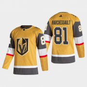 Cheap Vegas Golden Knights #81 Jonathan Marchessault Men's Adidas 2020-21 Authentic Player Alternate Stitched NHL Jersey Gold