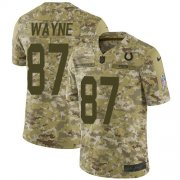 Wholesale Cheap Nike Colts #87 Reggie Wayne Camo Youth Stitched NFL Limited 2018 Salute to Service Jersey