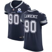 Wholesale Cheap Nike Cowboys #90 DeMarcus Lawrence Navy Blue Team Color Men's Stitched With Established In 1960 Patch NFL Vapor Untouchable Elite Jersey