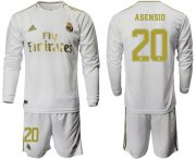 Wholesale Cheap Real Madrid #20 Asensio White Home Long Sleeve Soccer Club Jersey